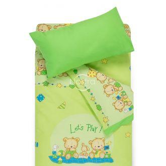 Children bedding set BEARS 10-0215/00-0361-L.GREEN/SUMMER GREEN