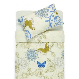 Cotton bedding set DORRIS 40-1017-BLUE