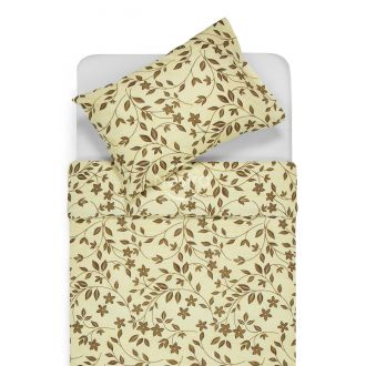 Cotton bedding set DYLANNE 20-0175-BROWN