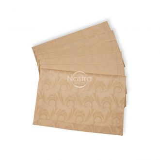 Jacquard sateen napkins, 6 pcs 80-0005-CREAM