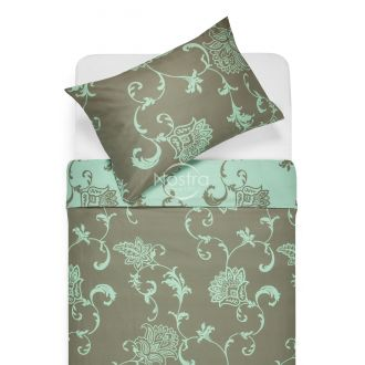 Sateen bedding set AVA 20-1448-TAUPE/MINT