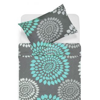 Cotton bedding set DORRIN 40-1159-GREY/MINT