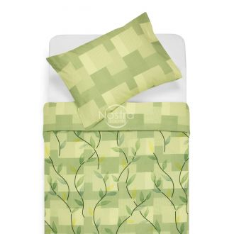 Cotton bedding set DREW 30-0565/40-0376-GREEN