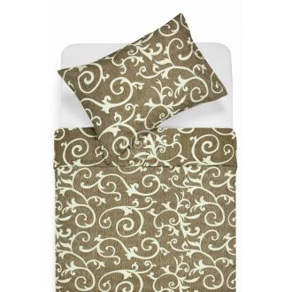 Cotton bedding set DREAM 40-0487-BROWN