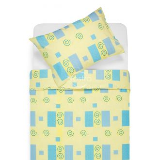 Cotton bedding set DRAGANA 30-0039-BLUE