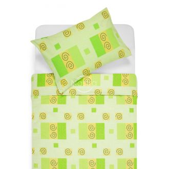 Cotton bedding set DRAGANA 30-0039-GREEN