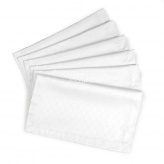Jacquard sateen napkins, 6 pcs 80-0001-OPT.WHITE