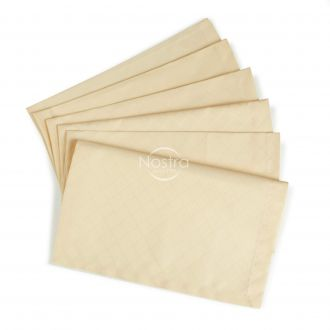 Jacquard sateen napkins, 6 pcs 80-0013-L. CREAM