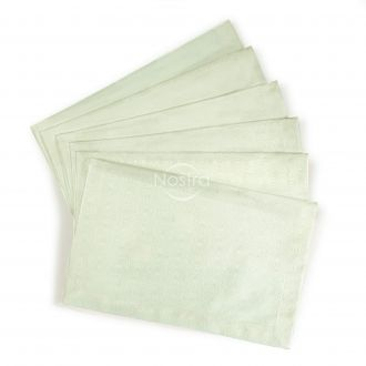 Jacquard sateen napkins, 6 pcs 80-0009-MILK