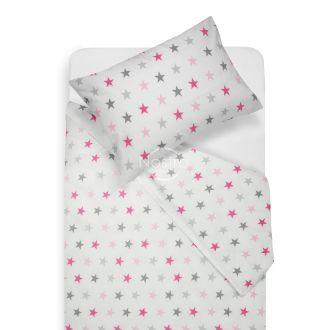 Children bedding set STARS 10-0052-L.GREY/L.PINK