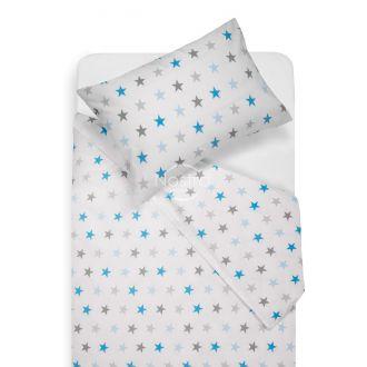 Children bedding set STARS 10-0052-L.GREY/L.BLUE