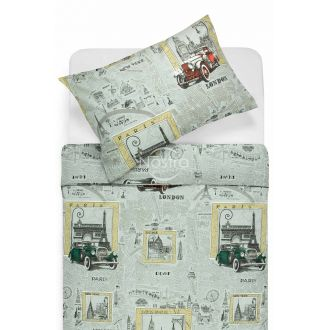 Polycotton bedding set HALAH 40-1073-GREY