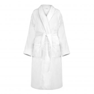 Chalatas VELOUR-420 420 BATHROBE-OPT.WHITE