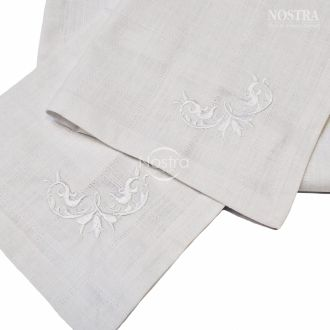 Cotton embroidered napkins SERVETĖLĖS-WHITE N1