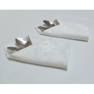 Jacquard sateen napkins, 6 pcs 80-0005-WHITE