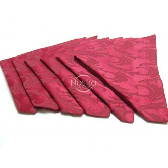 Jacquard sateen napkins, 6 pcs 80-0005-BORDO