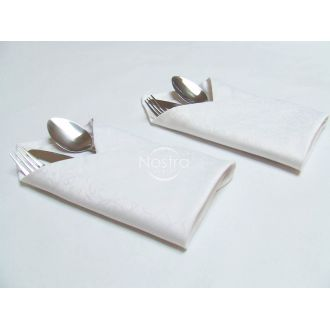 Jacquard sateen napkins, 6 pcs 80-0004-WHITE