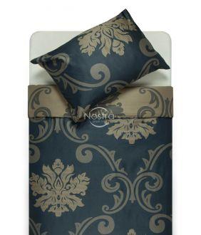 Постельное белье из Mako Сатина CHRISTINA 40-1047-BLUE/SILVER GREY