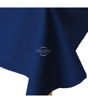Flat cotton sheet 00-0317-DARK BLUE