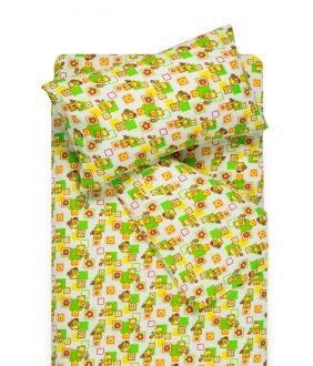 Vaikiška flanelės patalynė SMALL BEARS 10-0384-GREEN