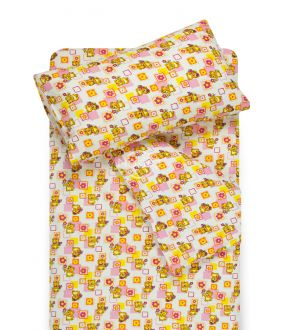 Children flannel bedding set SMALL BEARS 10-0384-PINK