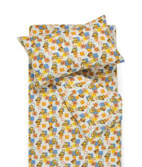 Children flannel bedding set SMALL BEARS 10-0384-BLUE