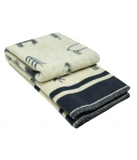 Шерстяное одеяло из мэриноса 80-3190-BLUE