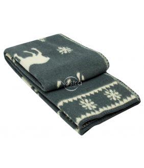 Шерстяное одеяло из мэриноса 80-3056-DARK GREY