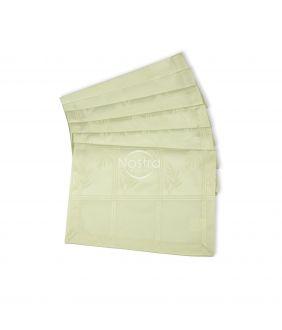Жаккардовые сатиновые салфетки, 6 штук 80-0006-IVORY