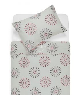 Cotton bedding set DOXIE 30-0270-RED
