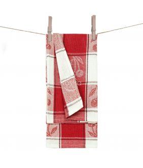 Кухонное полотенце WAFEL-240 T0019-RED WHITE
