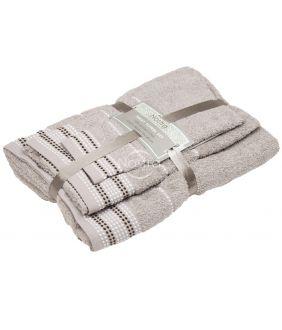 3 dalių rankšluosčių komplektas T0044 T0044-TAUPE