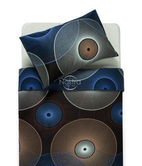 Sateen bedding set ADELITA 30-0285-BLUE