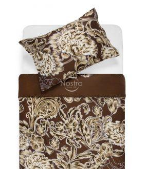 Sateen bedding set ADOLPHINE 20-1562-BROWN