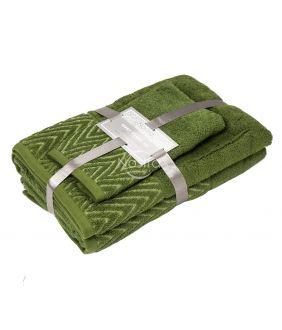 3-х предм. набор полотенец T0108 T0108-MOSS GREEN
