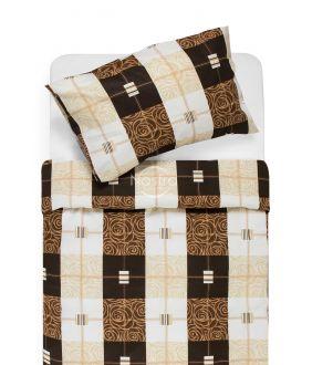 Cotton bedding set DYNA 40-1078-BROWN