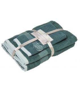 3 dalių rankšluosčių komplektas T0106 T0106-PINE GREEN