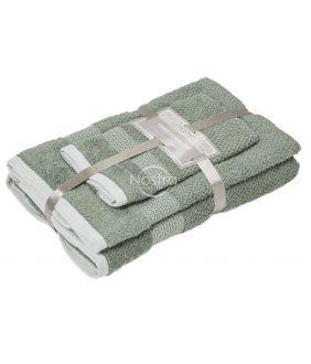 3 dalių rankšluosčių komplektas T0106 T0106-OIL GREEN