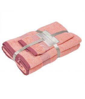 3 dalių rankšluosčių komplektas T0106 T0106-GRAPEFRUIT