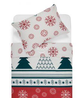 Flannel bedding set BRISA 10-0550-RED