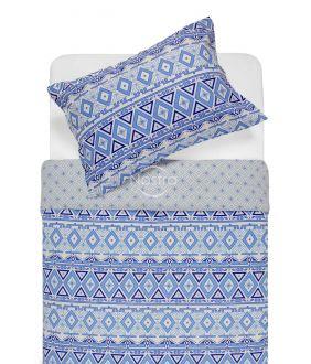 Flannel bedding set BRIDGET 40-1165/40-1166-BLUE