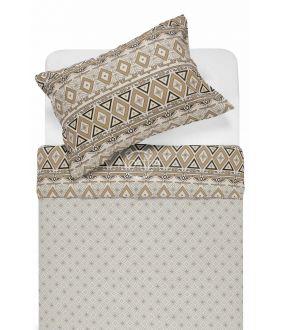 Flannel bedding set BRIDGET 40-1165/40-1166-BROWN
