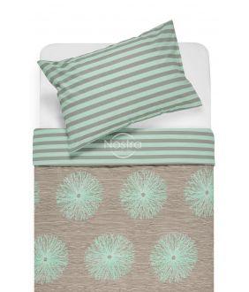 Cotton bedding set DEMAS 40-0681/30-0401-CACAO/MINT