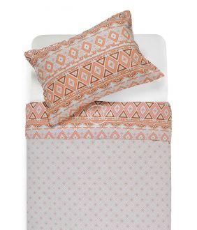 Flannel bedding set BRIDGET 40-1165/40-1166-TERRACOTA