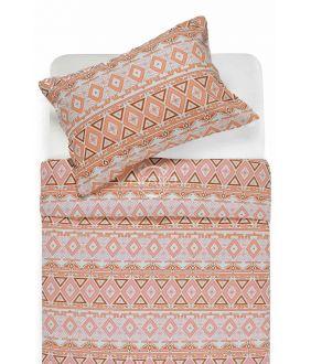 Flannel bedding set BRIDGET 40-1165-TERRACOTA
