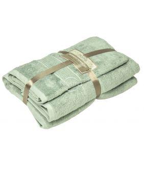 Bamboo towels set BAMBOO-600 T0105-SMOKE GREEN