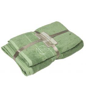 Bambukinių rankšluosčių komplektas BAMBOO-600 T0105-MINERAL GREEN