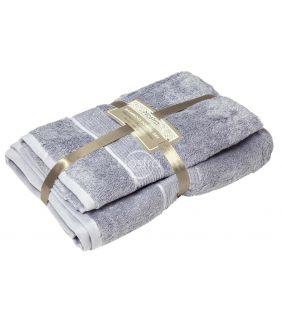 Bamboo towels set BAMBOO-600 T0105-GREY BLUE