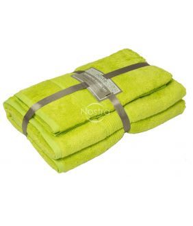 Bambukinių rankšluosčių komplektas BAMBOO-600 T0105-APPLE GREEN