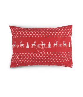 Flanelės pagalvės užvalkalas su užtrauktukais 10-0544-RED